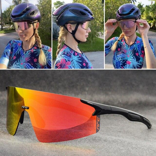 Nrc 3 lente uv400 ciclismo óculos de sol tr90 esportes bicicleta mtb mountain bike pesca caminhadas equitação eyewear 3