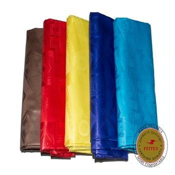 Germany Quality New Pattern Yellow Guinea Brocade Fabric Bazin Riche Garment Fabric 100% Cotton Damask FEITEX 10 Yards/bag