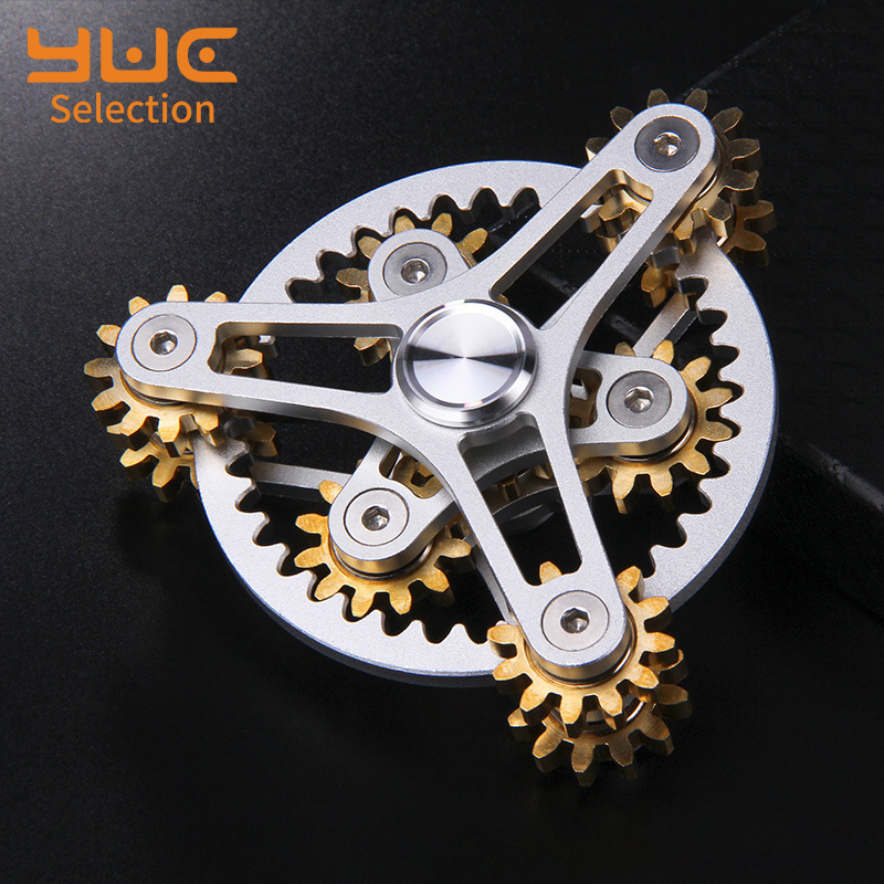 Focus-Toys Fidget-Spinner Stress-Relief Metal EDC YUC Nine Teeth-Linkage Delicateness-Gear