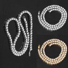 Многослойный металлический браслет, крутая Простая мужская хип-хоп многослойная теннисная цепочка, стразы, инкрустированное ожерелье, ювелирное изделие, подарок, новинка