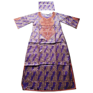 Image 5 - MD 2020 new africa dresses for women bazin dashiki african women dresses embroidery women african clothing dress and head wraps