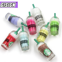 Coffee Straw Cup Charms For Slime Addition All Food Ice Cream Polymer Clay Filler Resin Accessories Toys Kit Children