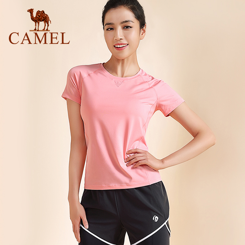 Camel Women's New Fashion Yoga Suit Women Tracksuit Three-piece Suit Summer Sports Running Clothes T-shirt Pants Short Pants