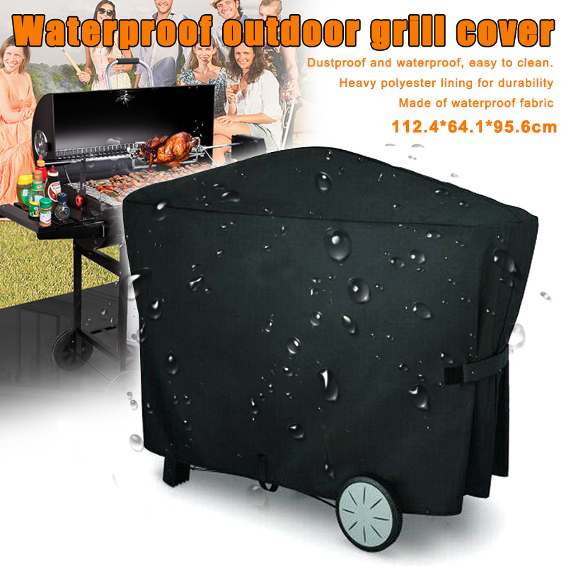 BBQ Full Length Grill Cover Waterproof Protector Dustproof For Weber Q3000 Q2000 FKU66