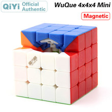 QiYi Magnetic Wuque Mini 4x4x4 Magic Cube MoFangGe XMD Magnets 4x4 Speed Twisty Puzzle Educational Toys For Children
