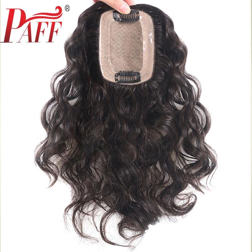 PAFF Peruvain парик из натуральных волос для женщин 7*10 кружева с шелком Замена основания системы свободная волна с зажимами крышка белые волосы