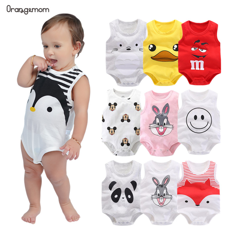 Orangemom Summer 2020 Baby Bodysuit Cute Penguin Style One Pieces Jumpsuit Cheap Baby Boy Clothes Newborn Vest Clothes Baby Boy