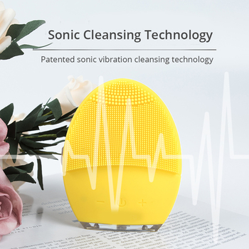 Powered Facial Cleansing Brush Sonic Silicone Cleanser Waterproof USB Rechargeable Skin Care Massage MINI 2 Face Cleaning Brush 3