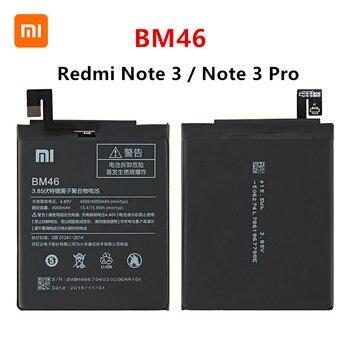 Xiao mi 100% Orginal BM46 4050mAh Battery For Xiaomi Redmi Note 3 / Note 3 Pro BM46 High Quality Phone Replacement Batteries xiao mi xiaomi bm46 phone battery for xiao mi redmi note 3 pro hongmi note3 redrice note 3 4050mah bm46 original battery tool