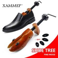 شجرة الأحذية 1 زوج خشبية للرجال والنساء نقالة الحذاء الأحذية المتوسع الأحذية العرض والارتفاع قابل للتعديل المشكل رف Xammep