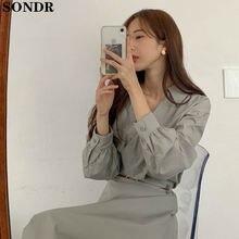 Элегантное Длинное Платье рубашка с v образным вырезом женское