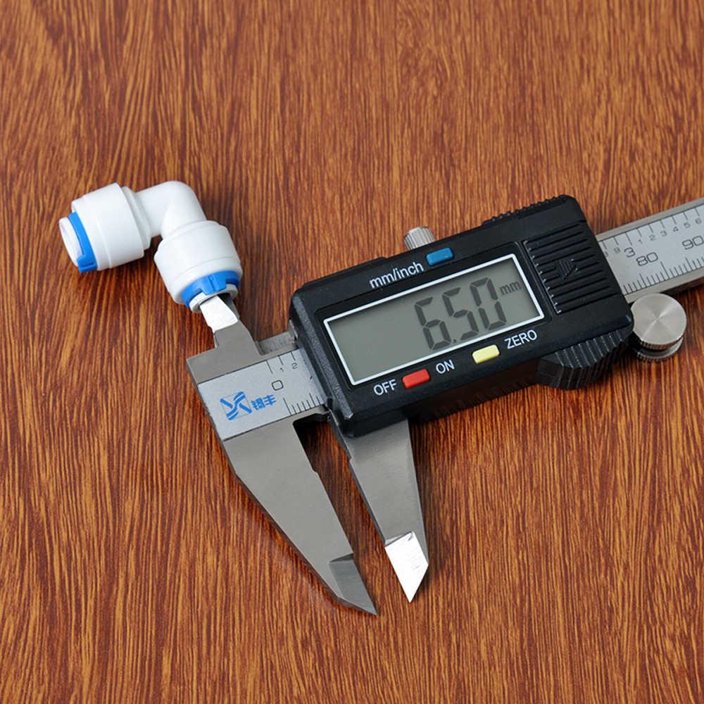 "Fit 1/4 ""6.35mm OD צינור 90 תואר מרפק פום מחבר מהיר מתאים אקווריום RO מים מסנן הפוך אוסמוזה מערכת"