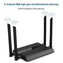 Enrutador Wifi inalámbrico 4G, enrutador de 4 puertos de 300Mbps con tarjeta SIM USB WAP2 802.11n/b/g 2,4G Router 10*100M repetidor Wifi inalámbrico de hasta