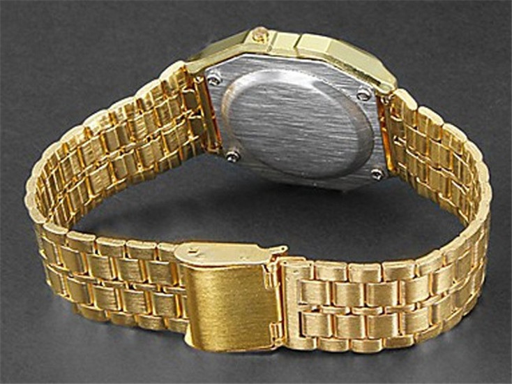 Women Retro LED Metal Shock Sports Fashion Wristwatches relogio masculino Gold Silver Watch Saati Drop ship Digital Men Watches