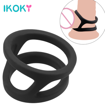 durex pleasure ring for condom enlargement ring penis sleeve extender sex toys erotic safe products for men ejaculation delay IKOKY Penis Ring Silicone Delay Ejaculation Black Cock Ring Sex Products Sex Toys for Men Male Penis Enlargement