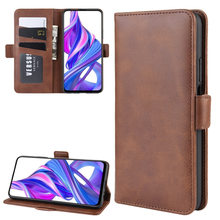Luxury Retro Card Wallet Flip Magnetic Double Buckle PU Leather Case For Huawei Honor 9X 9X Pro Shockproof Phone Cases(China)