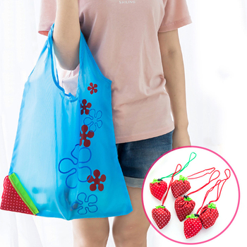 Multicolor Storage Foldable Convenience Multi Purpose Women's Supplies Nylon Strawberry Shaped Reusable Grocery Shopping Bags - discount item  30% OFF Special Purpose Bags
