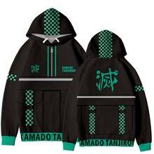 Venda quente demônio slayer hoodies das mulheres dos homens primavera outono moda dos desenhos animados sweatshirts harajuku roupas populares kimetsu não yaiba topos