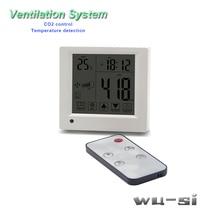 Monitoring detector CO2 analyzer controls air ventilation system, remote control can control стоимость