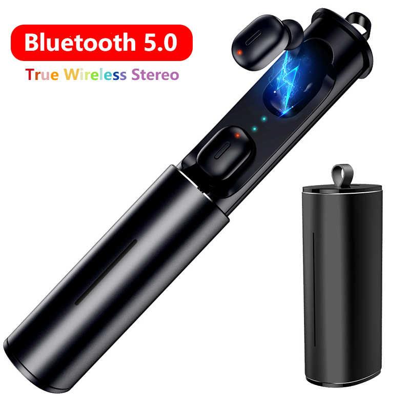 Minisłuchawki T1 TWS 5.0 bezprzewodowe słuchawki Bluetooth 3D prawda Wireless Stereo słuchawki douszne z mikrofonem HiFi bezprzewodowy podwójny zestaw słuchawkowy HS ucha