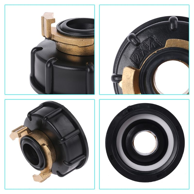 Water storage tank IBC Tank adapter S60X6 <font><b>geka</b></font> style hose connector Irrigation Practical Outlet Thread Accessories Fittings D2TD image