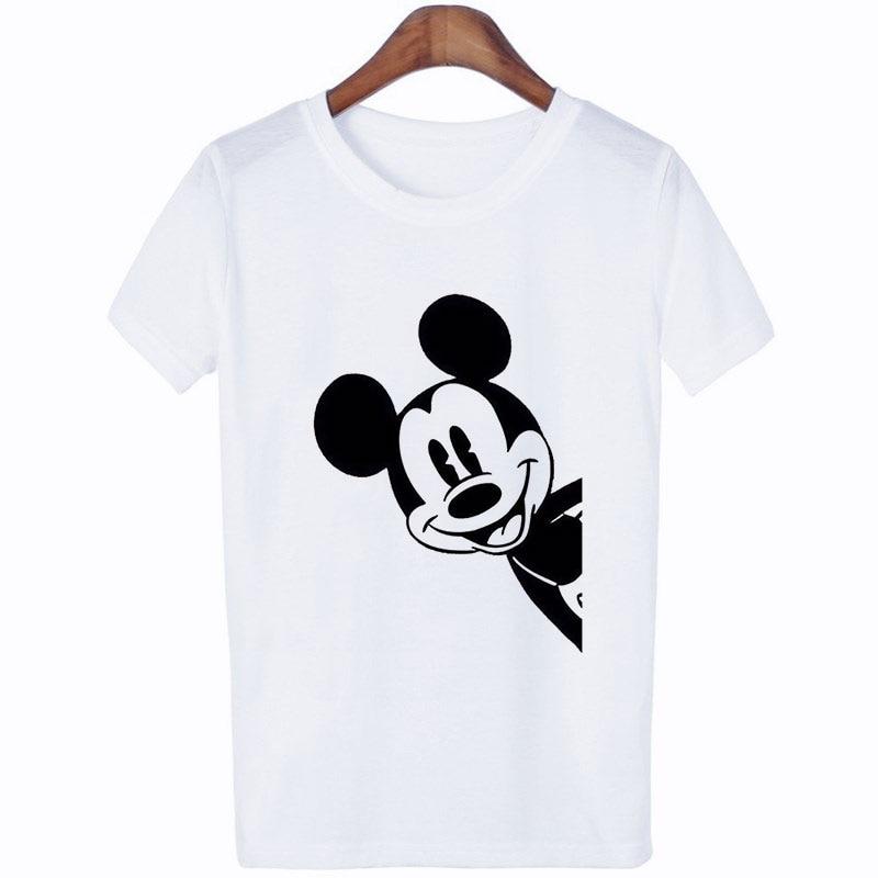 Mouse Duck Cartoon Animal Print T Shirt Lovely Funny Aesthetic Tshirt Women Clothes 2019 Summer Woman Fashion Harajuku Kawaii