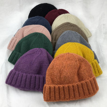 Knitted Wool Benies Unisex Solid Dome Skullies Men Women Street Hip Hop Hats Fashion Skullcap Casual Warm  Autumn Winter Adult