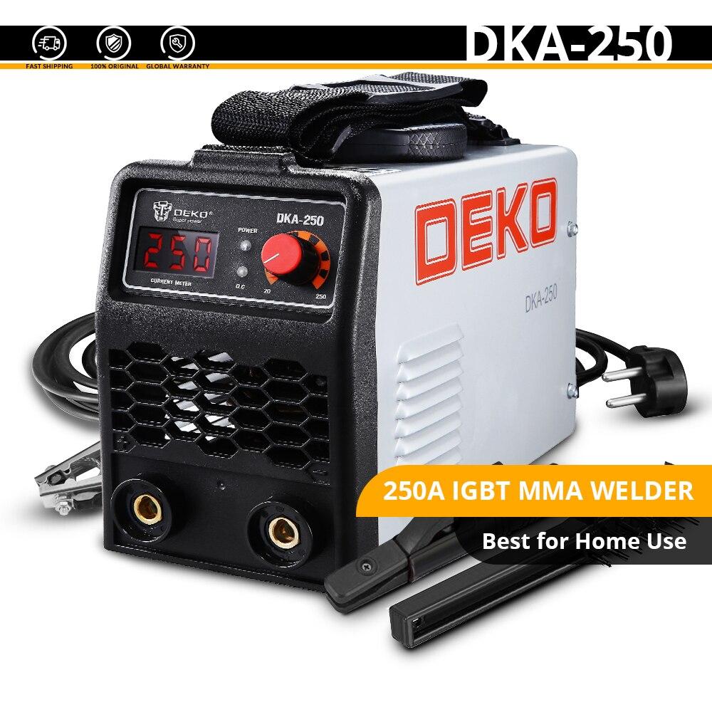 DEKO DKA-200Y 200A 4.1KVA инвертор дуговой Электрический сварочный аппарат 220V MMA сварочный аппарат для DIY сварочных работ и электрических работ - Цвет: DKA-250