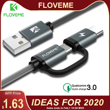 FLOVEME QC3.0 USB Type C Cable for Samsu
