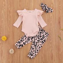 Emmababy/Одежда для новорожденных девочек новый однотонный трикотажный