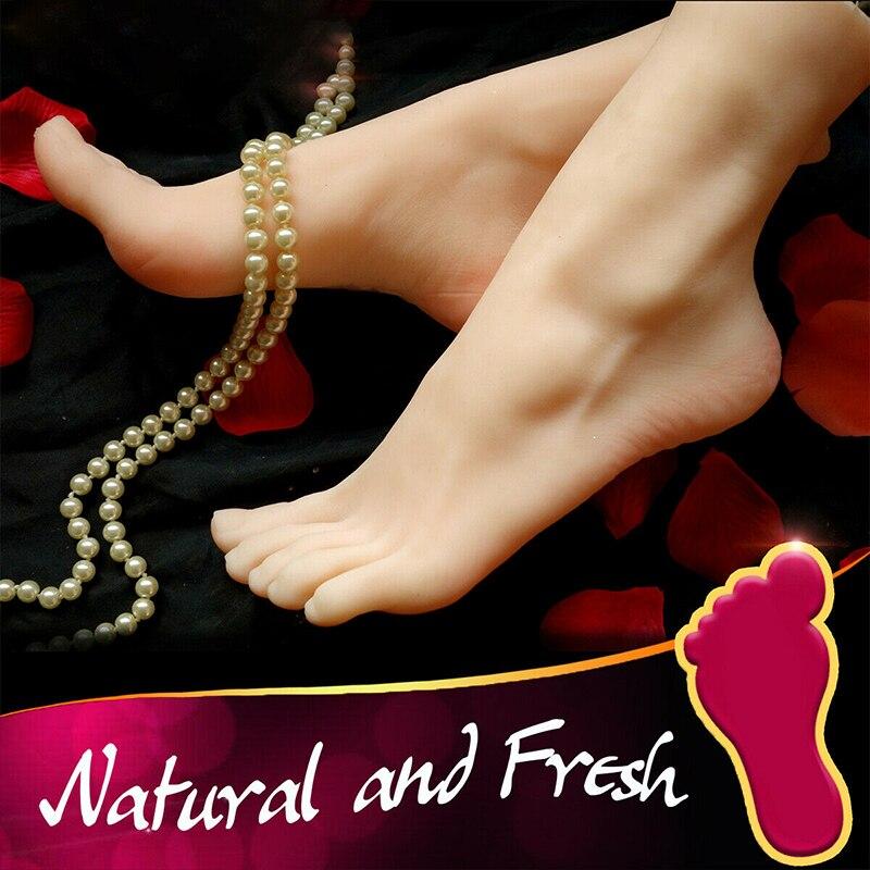 1 paire gauche/droite réaliste femme pieds faux pied affiche chaussures modèle jambes Mannequin 36 fétiche jouet
