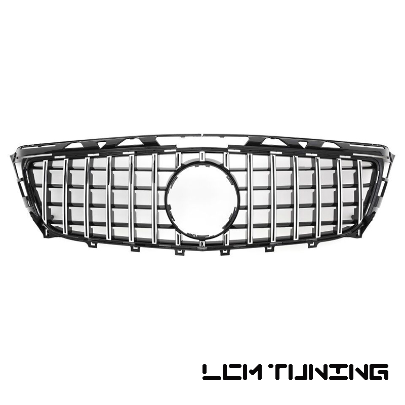 Pre-facelift Front Bumper Racing <font><b>Grille</b></font> For Mercedes For Benz CLS-class <font><b>W218</b></font> GT Style 2011-2014 with Emblem image