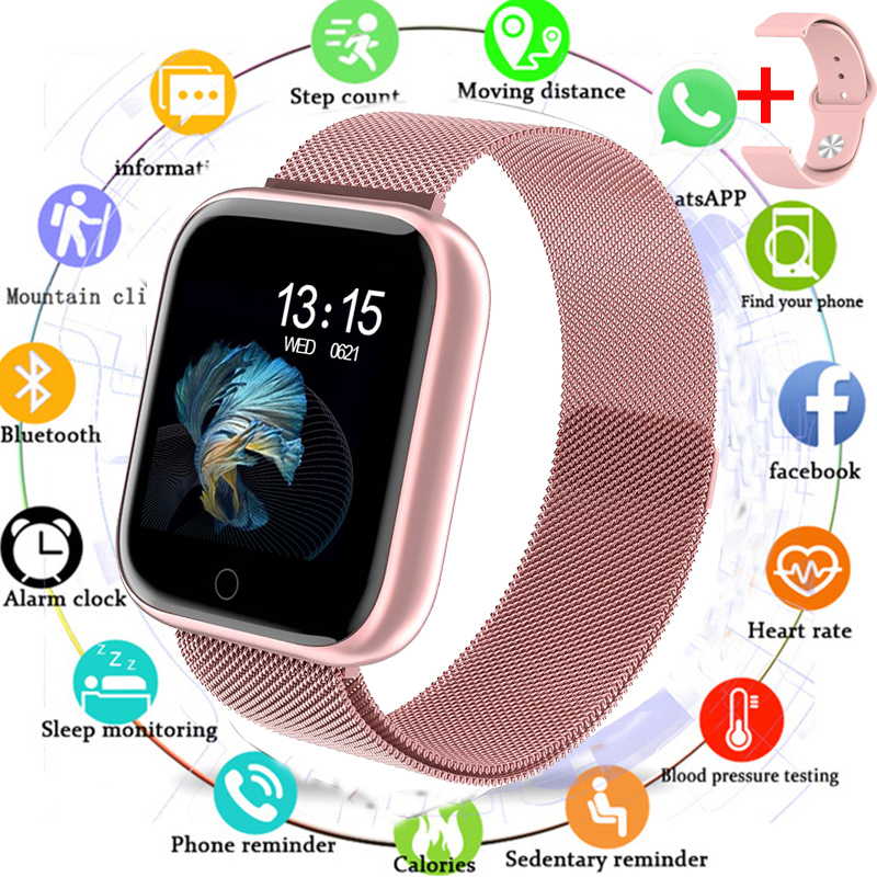 2019 Women Waterproof Smart Watch P70 P68 Plus Bluetooth Smartwatch For Apple IPhone Heart Rate Monitor Fitness Tracker|Smart Watches| |  - title=