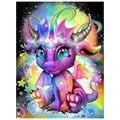 Алмазная 5d Вышивка «сделай сам» с животными, живопись с фиолетовым драконом мечты, вышивка крестиком, подарок для хобби ручной работы