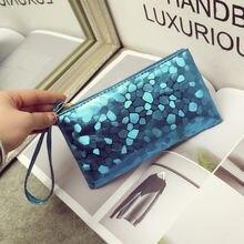 Дизайнерский кошелек для женщин Дамский модный кожаный клатч
