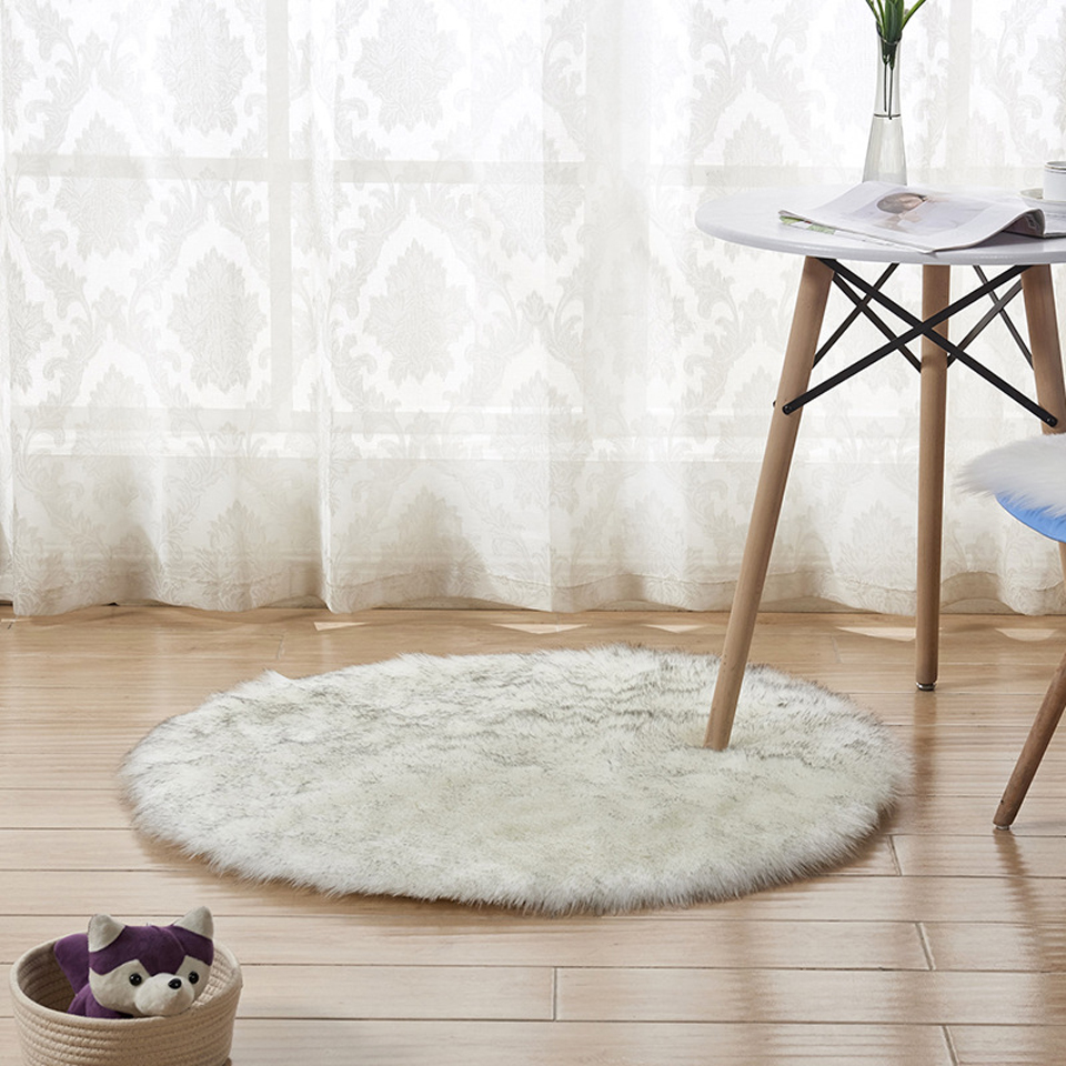 Artificial Wool Carpet Round Soft Thick