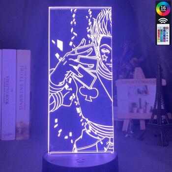Led Night Light Hunter X Hunter Anime Nightlight 3D Lamp Bedroom Decor Gift Xmas