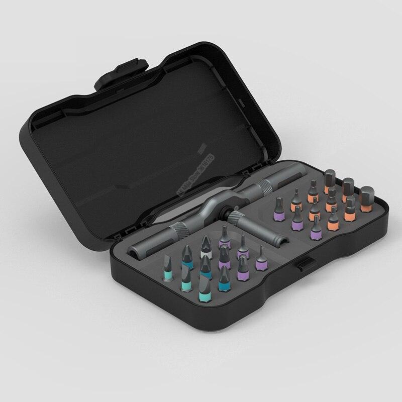 Youpin ATuMan DUKA 24 В 1 многоцелевой Трещоточный ключ Отвертка S2 магнитные Биты Набор инструментов DIY бытовой инструмент для ремонта Смарт-гаджеты      АлиЭкспресс