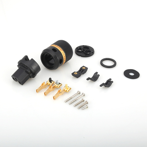 Image 5 - Viborg X Hifi audio Reinem kupfer 24K Gold überzogene EU power kabel Verlängerung stecker stecker adapter 1 paar