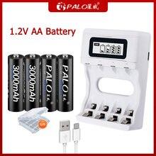 Palo 100% новый 12 v ni mh аккумулятор aa перезаряжаемая батарея