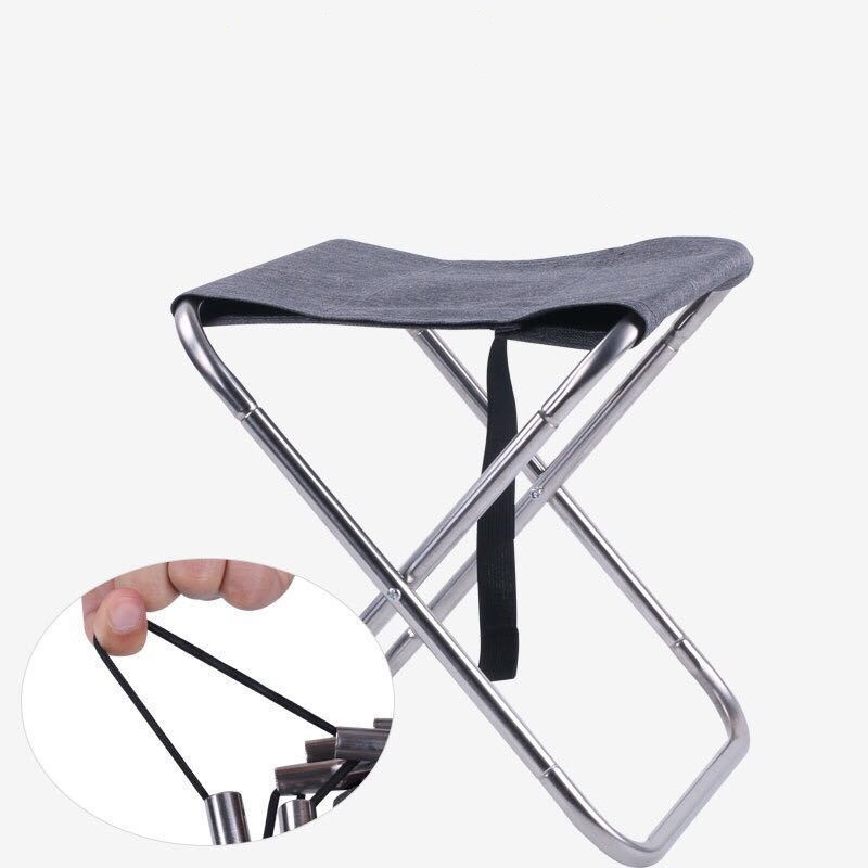 Bearing 150kg waterproof tensile 600D oxford outdoor stainless steel auto open compact folding fishing chair palm horse bench (Black)