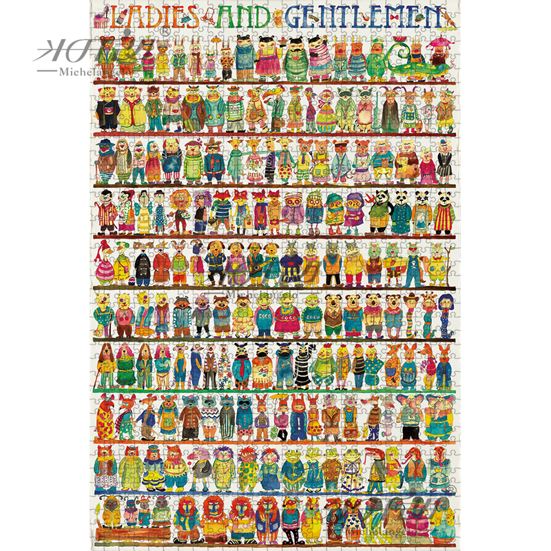 Michelangelo Wooden Jigsaw Puzzles 500 1000 1500 2000 Pieces Ladies and Gentlemen Cartoon Animals Educational Toy Painting Decor|Puzzles| |  - title=