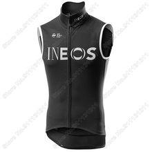 Ineos-Chaleco negro para Ciclismo, a prueba de viento, Maillot sin mangas para Ciclismo de montaña, 2021