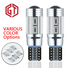 GUANGJI Car Signal Lights 2pcs  T10 w5w Led Bulb Error Free 12V Auto Interior Light w5w Canbus T10 Led Lamps Bulbs for Cars youen ba9s 6smd 5630 led canbus lamps error free t4w car led bulbs interior lights car light source parking 12v white 8000k