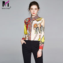 Женские шифоновые рубашки с длинным рукавом banulin повседневные