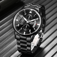 2020 LIGE New Mens Watches Top Brand Luxury Chronograph Sport Waterproof Automat