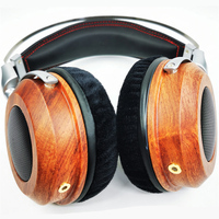 K100 300 Ohm High Impedance Open Back Headphone 50MM HiFi Headset Natural Wood Housing OFC 8 Strand Cable