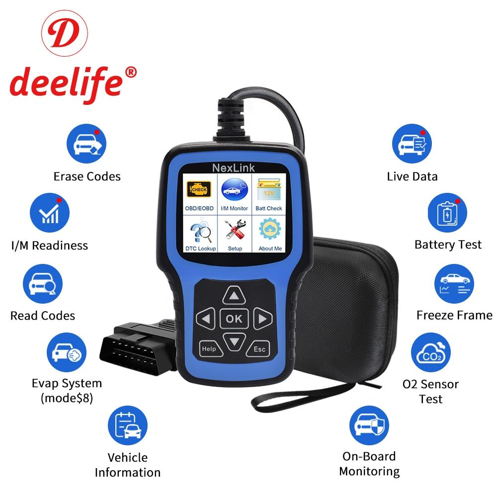 Deelife OBD2 Scanner for Car ODB2 Diagnostic Tool OBD 2 Auto Professional Automotive Scanner ODB II OBDII Code Reader Diagnosis(China)