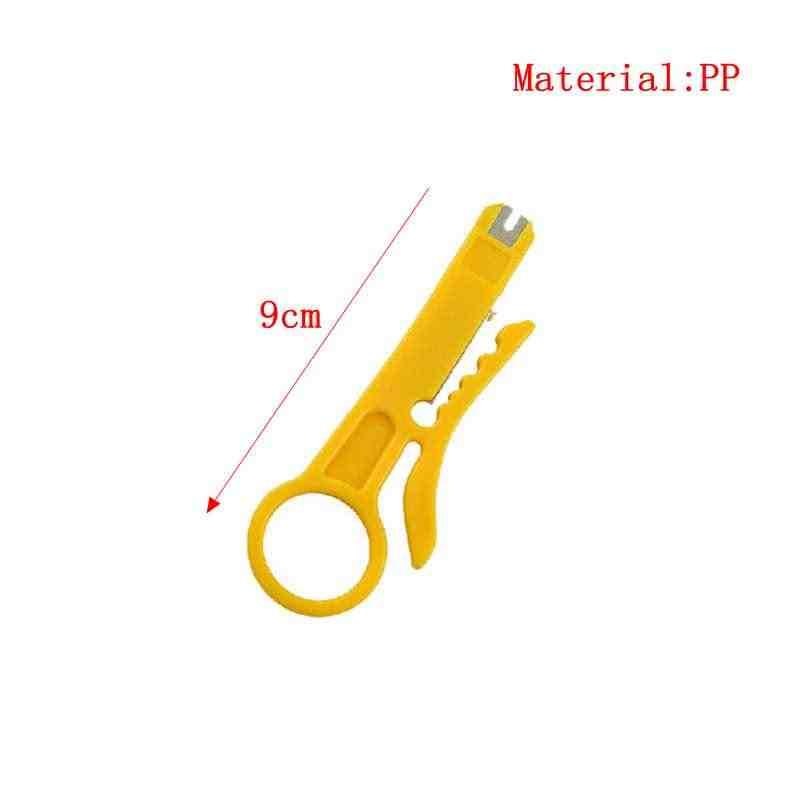 Mini Saku Portabel Kawat Stripper Pisau Tang Crimper Crimping Alat Pengupasan Kabel Kawat Cutter Crimpatrice Bagian Alat