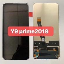 Orijinal siyah 6.59 inç Huawei Y9 başbakan 2019 STK LX1 onur 9X STK L21 LCD ekran dokunmatik ekran Digitizer meclisi parçaları + aracı